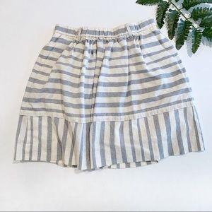 ⬇️$30 Madewell blue and white striped mini skirt